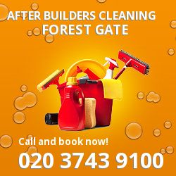 E7 post builders clean near Forest Gate