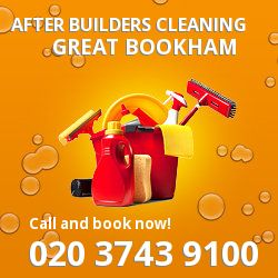 KT23 post builders clean near Great Bookham