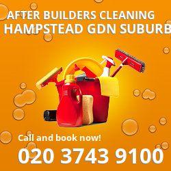 N2 post builders clean near Hampstead Gdn Suburb