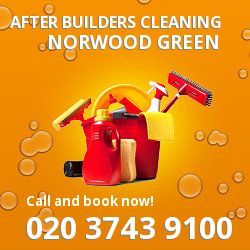 UB2 post builders clean near Norwood Green