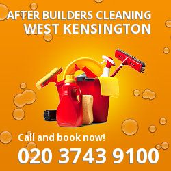 W14 post builders clean near West Kensington