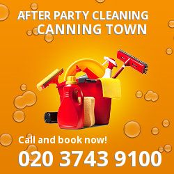 Canning Town holiday celebrations cleaning E16