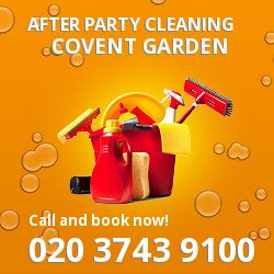 Covent Garden holiday celebrations cleaning WC2