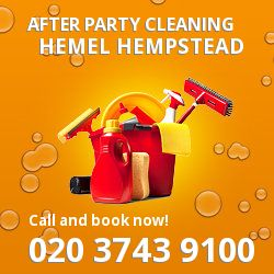 Hemel Hempstead holiday celebrations cleaning HP1
