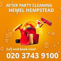 Hemel Hempstead holiday celebrations cleaning HP1