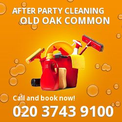 Old Oak Common holiday celebrations cleaning NW10