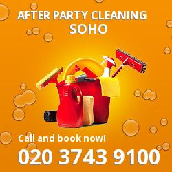 Soho holiday celebrations cleaning W1