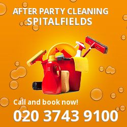 Spitalfields holiday celebrations cleaning E1