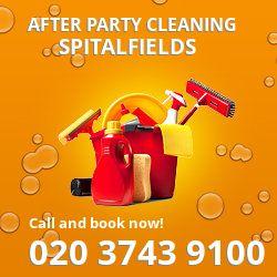 Spitalfields holiday celebrations cleaning E1