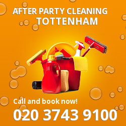 Tottenham holiday celebrations cleaning N17