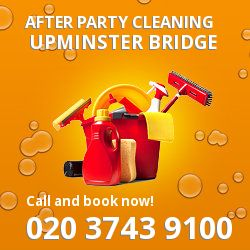 Upminster Bridge holiday celebrations cleaning RM12