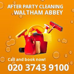 Waltham Abbey holiday celebrations cleaning EN9