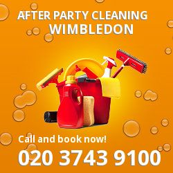 Wimbledon holiday celebrations cleaning SW20