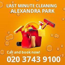 N22 same day cleaning services in Alexandra Park