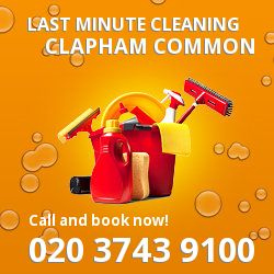 SW4 same day cleaning services in Clapham Common