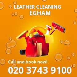 TW20 faux leather cleaning Egham