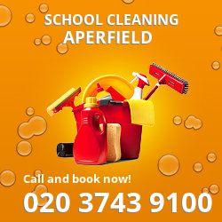 TN1 school cleaning Aperfield