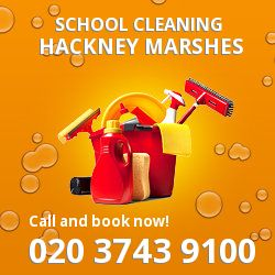 E9 school cleaning Hackney Marshes