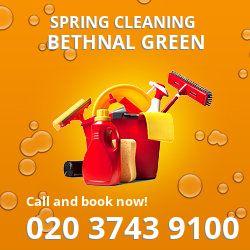 E2 seasonal cleaners in Bethnal Green