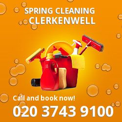 EC1 seasonal cleaners in Clerkenwell