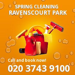 W4 seasonal cleaners in Ravenscourt Park