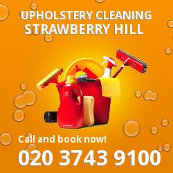 Strawberry Hill upholstery cleaning TW1