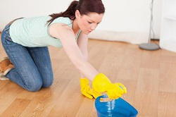 wooden floor washing