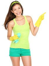 E16 house cleaners services around Victoria Dock